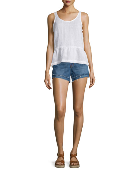 Sachi Low-Rise Cutoff Shorts, Granada