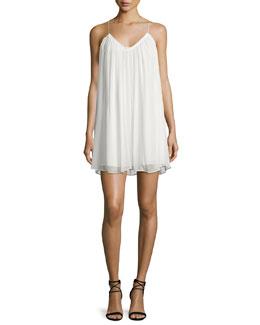Malie Sleeveless A-Line Dress, Ivory