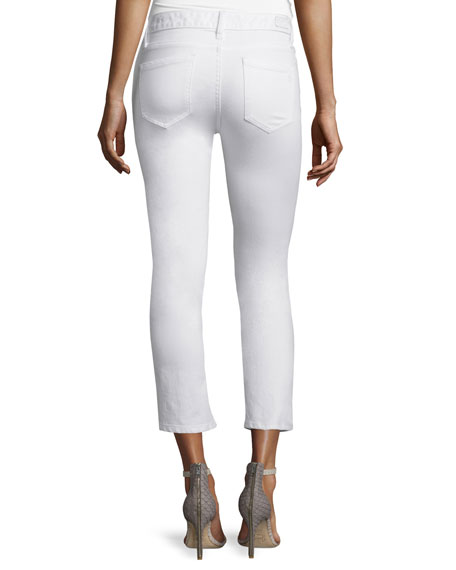 Stretch-Cotton Cropped Flare Pants