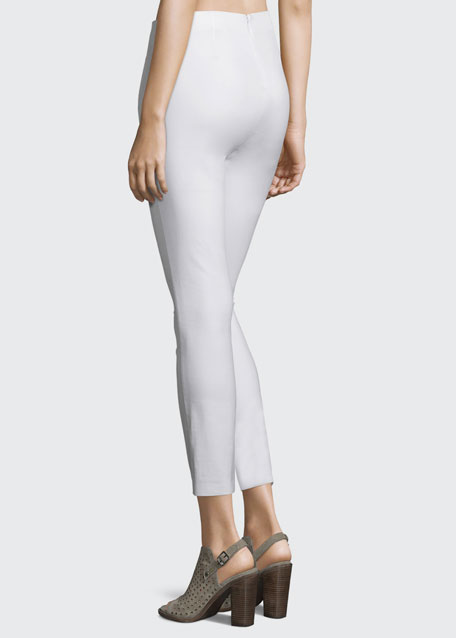 Simone Cropped Skinny Pants, White