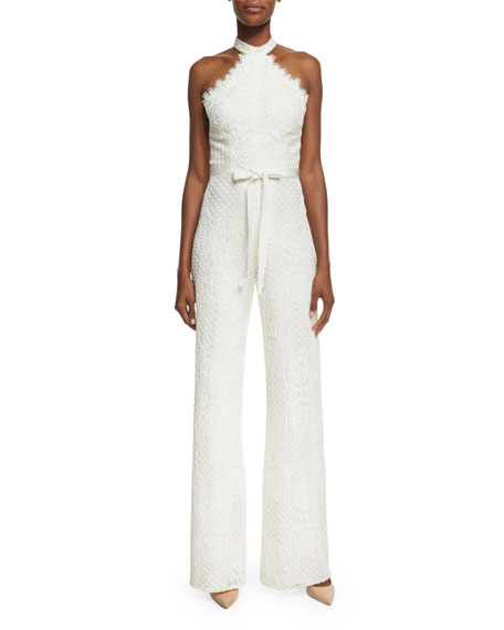 1e80593e441 Alexis Maylina Sleeveless Grecian Lace Jumpsuit