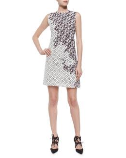 Patchwork Lace Shift Dress