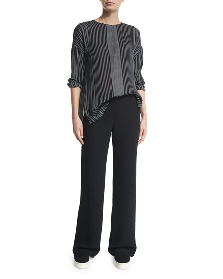 Side-Zip Twill Trousers