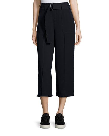 Belted Cropped Trousers, Coastal