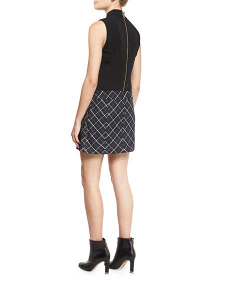 Naya Dress w/Pleated Plaid Skirt