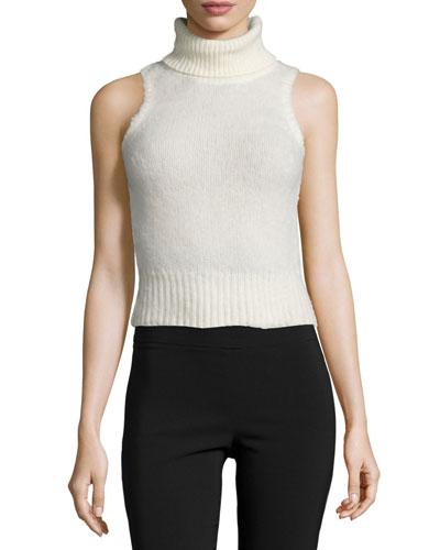 Elodie Sleeveless Turtleneck Sweater