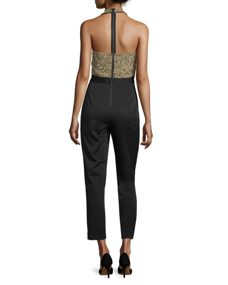 Jeri Embellished T-Back Jumpsuit