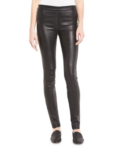 Adbelle L2 Bristol Leather Leggings, Black