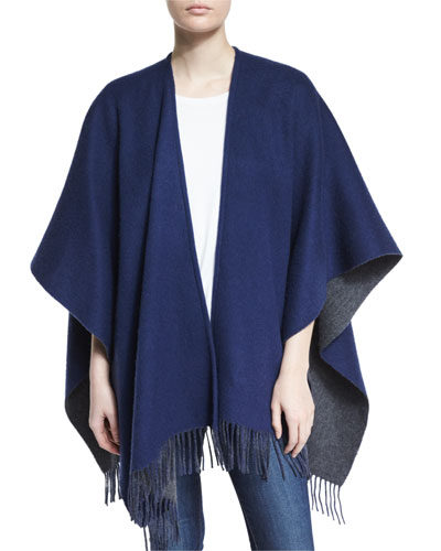 Wool Felt Double-Face Wrap, Navy