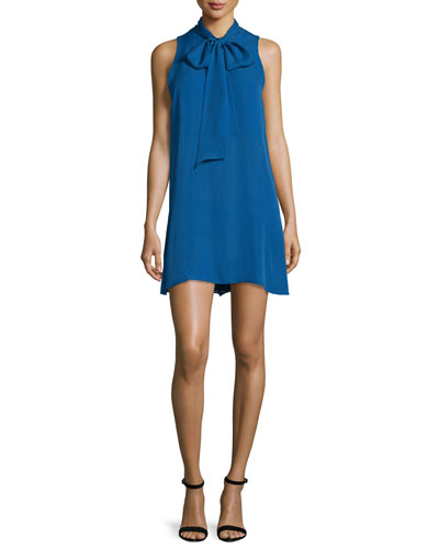 Cassidy Tie-Neck Shift Dress