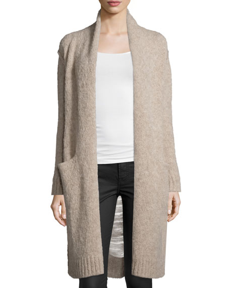 The Long Slash Pocket Cardigan, Camel