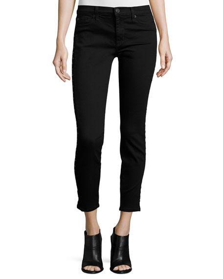 Hudson Luna Star Skinny Jeans, Noir