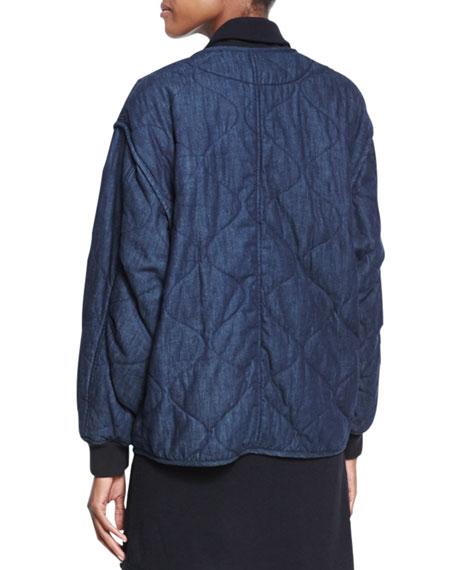 Addison Quilted Denim Jacket, Indigo