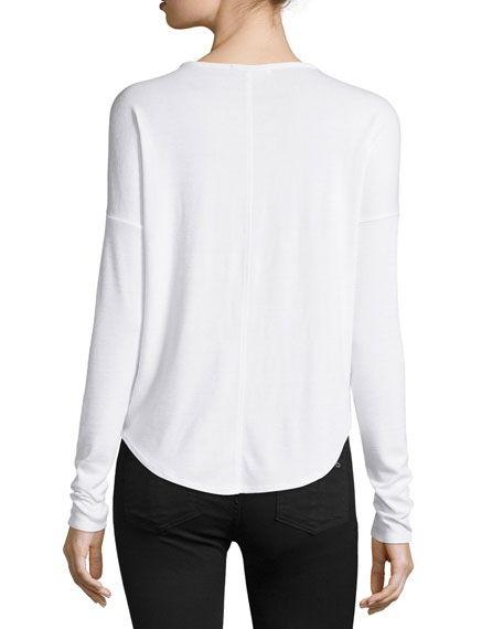 Hudson Long-Sleeve T-Shirt, White