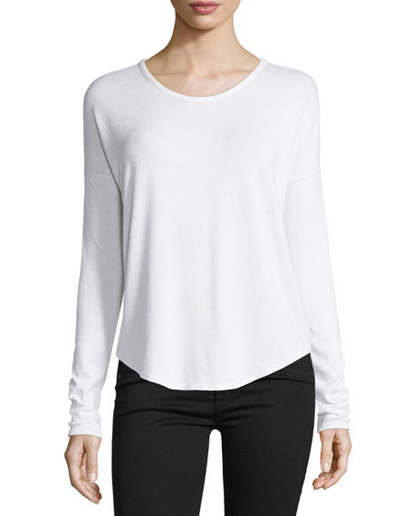 Hudson Long-Sleeve T-Shirt, White