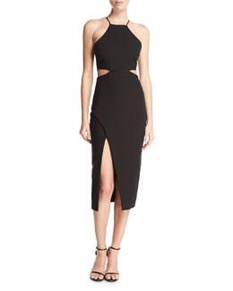 Yael Sleeveless Side-Cutout Cocktail Dress