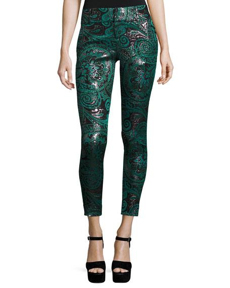 Lancy Paisley Jacquard Trousers, Multicolors