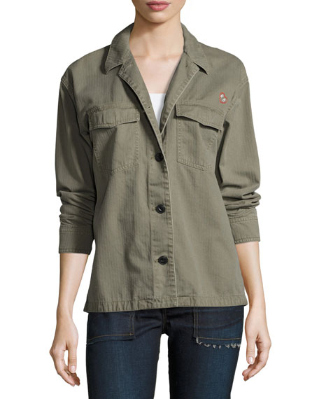 rag & bone/JEAN Irving Shirt Jacket, Army Green