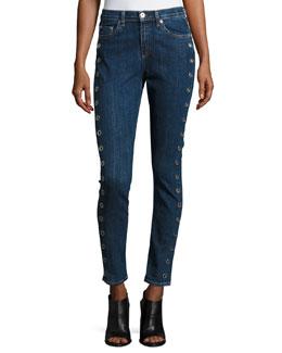 10 Inch Dre Slim Boyfriend Jeans, Dalton Eyelet