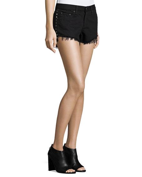 1abe34b69200a rag   bone JEAN Studded Cut-Off Denim Shorts