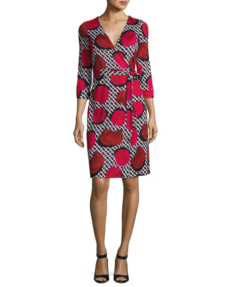 1879bea8cb5c2 Diane von Furstenberg New Julian Two Jersey Wrap Dress, Poppy Chain Rose