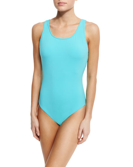 Lattice-Back One-Piece Swimsuit