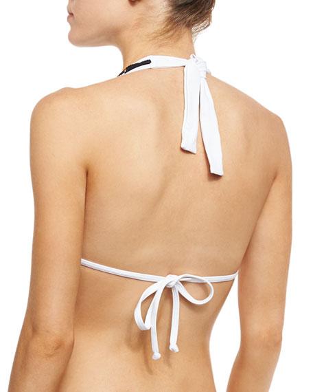 Skull Lace Bikini Swim Top