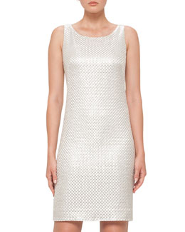 St. Gallen Weave Sheath Dress