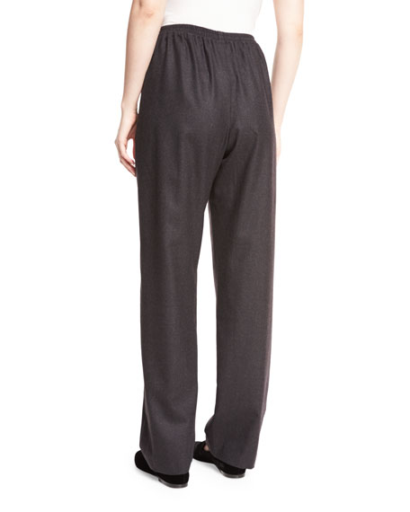 Regular Wool-Blend Trousers