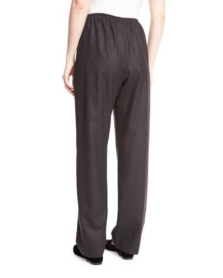 Regular Wool-Blend Trousers