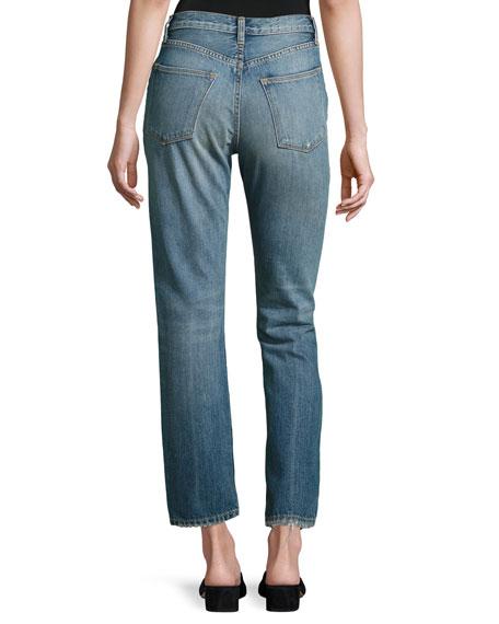 Vintage Straight-Leg Jeans, Calico
