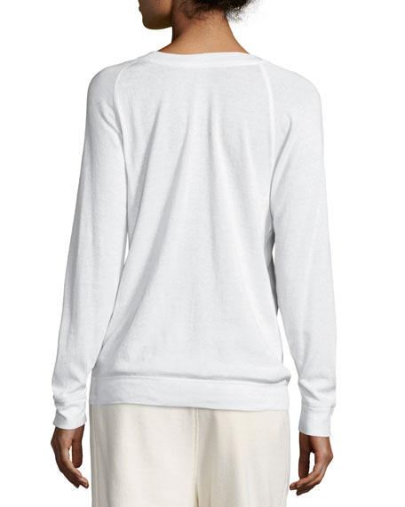 Long-Sleeve Raglan Pullover Tee
