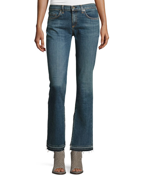 rag & bone/JEAN Lottie Side-Slit Boot-Cut Jeans, Paz