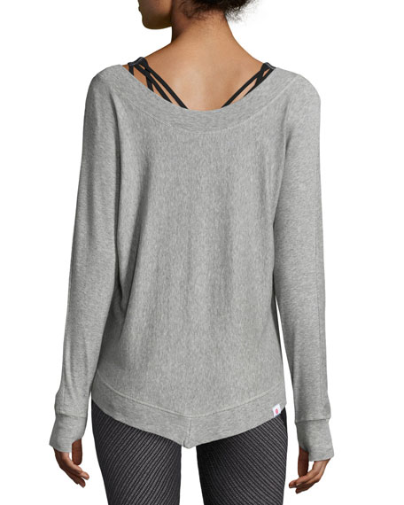 Serenity V-Neck Sweatshirt, Gray