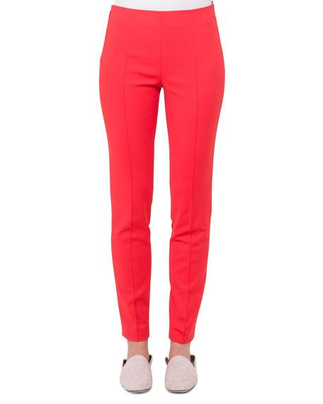 Mid-Rise Slim-Leg Pants