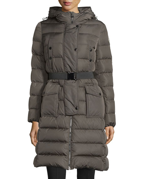 Khloe Quilted Puffer Coat w/ Fur Hood