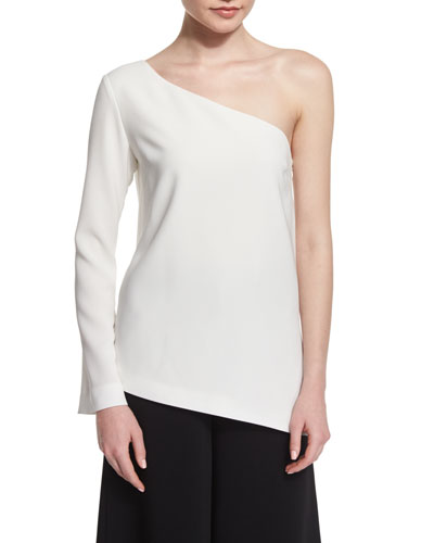 Layla One-Sleeve Blouse  Ivory