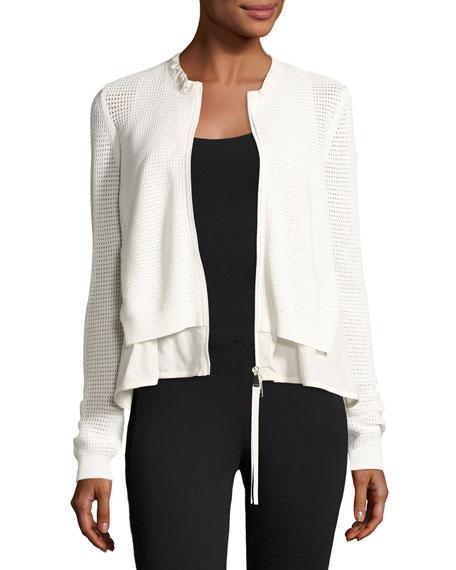 Layered Mesh Zip-Front Jacket