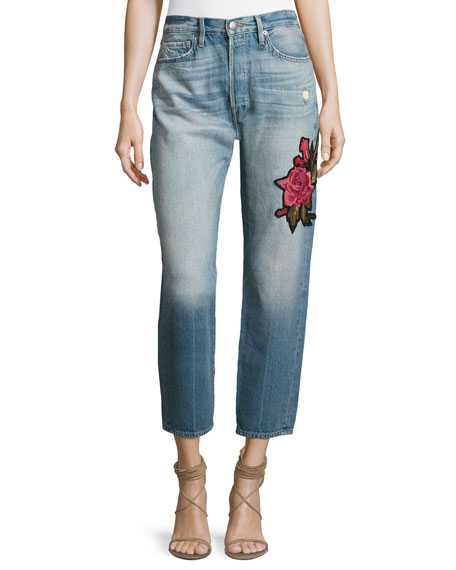 Le Original Patch Jeans, Rose Lake