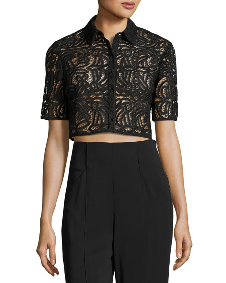 Zoe Lace Cropped Top