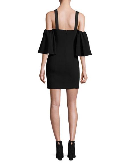 Monroe Cold-Shoulder Mini Dress, Black