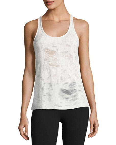 Pure Distressed Racerback Athletic Tank