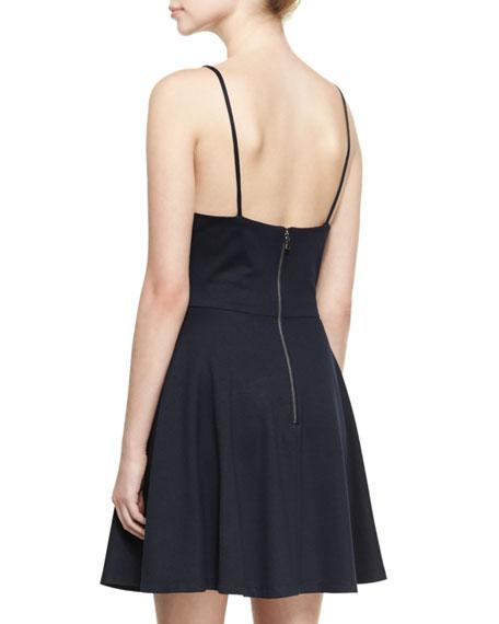 Alves V-Neck Flared Mini Dress, Blue