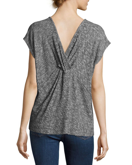 Knot-Back Ribbed Tee