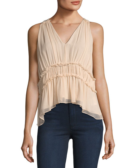 Bach Ruffled Silk Top