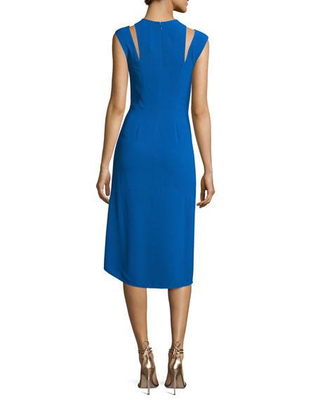 Sleeveless Stretch Crepe Cocktail Dress