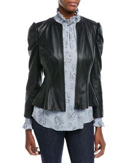 Victorian Fitted Leather Jacket