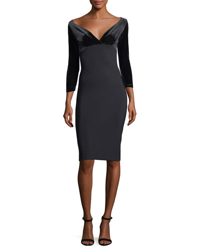 Ruth Off-the-Shoulder Cocktail Dress