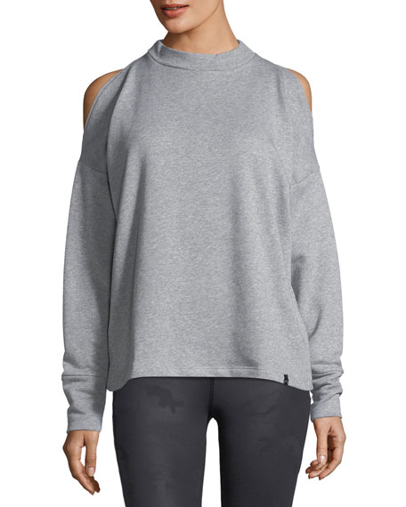 Carbon Cold-Shoulder Sweatshirt