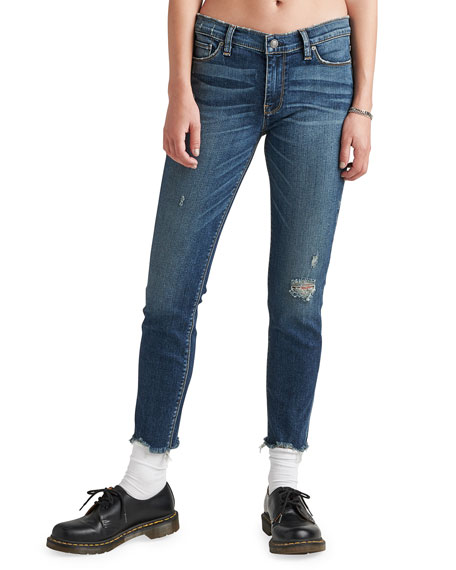 Image 1 of 1: Tally Mid-Rise Skinny Crop Jeans